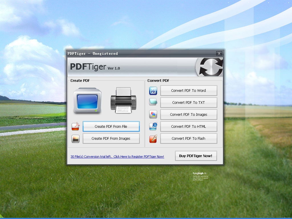 Click to view PDFTiger 1.1.2 screenshot
